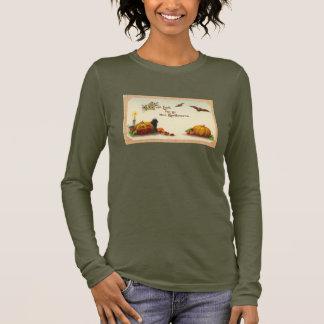 Vintage Gottschalk Halloween Postcard Image Long Sleeve T-Shirt