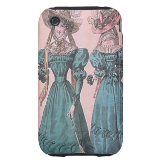 Vintage Gowns and Hats iPhone 3  Case iPhone 3 Tough Cases