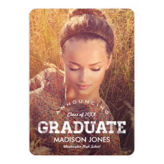 Vintage Grad Graduation Announcement Invitation