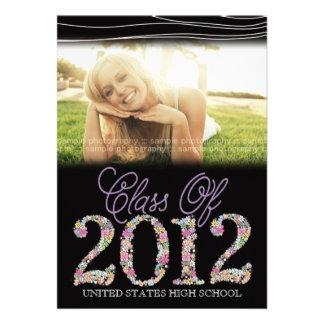 Vintage Graduate Class of 2012 Black Pink Invite