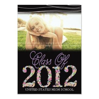 Vintage Graduate Class of 2012 Black & Pink Invite