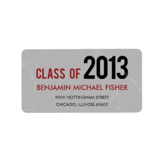 Vintage Graduation Address Label