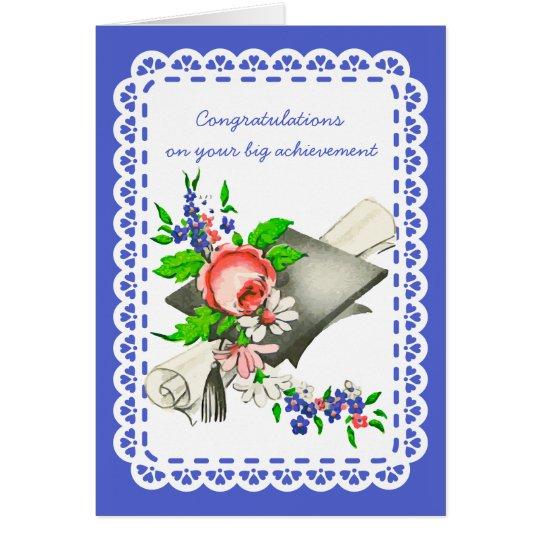 Vintage Graduation Congratulations Card