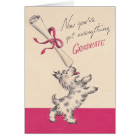 Vintage Graduation Greeting Card