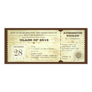 vintage graduation tickets - invites