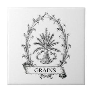 Vintage grain sack label art tile