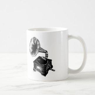 Vintage Gramophone Basic White Mug