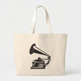 Vintage Gramophone Canvas Bag