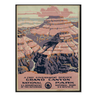 Vintage Grand Canyon art Postcard