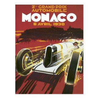 Vintage Grand Prix Monaco Postcard