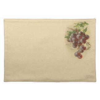 Vintage grapes placemat