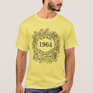 Vintage Grapevine Wine Stamp, Add Birth Year T-Shirt