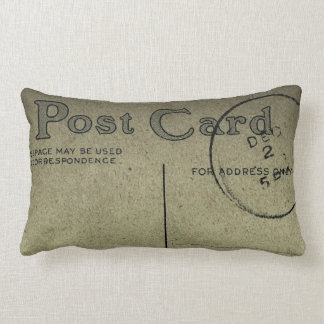 Vintage Gray Blank Postcard  -Pillows