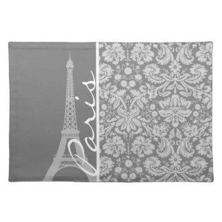 Vintage Gray Damask Paris Place Mat