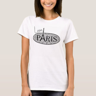 Vintage Gray Damask Paris T-Shirt