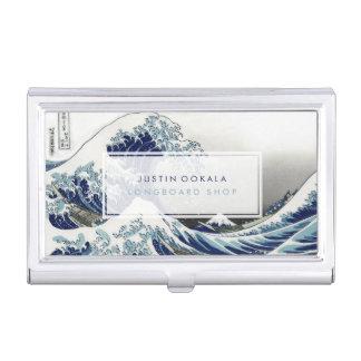 vintage, Great Wave, Hokusai 葛飾北斎の神奈川沖浪 Business Card Holder