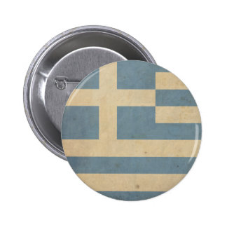 Vintage Greece Flag 6 Cm Round Badge