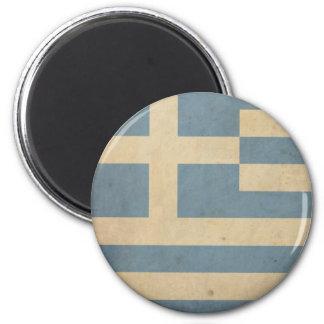 Vintage Greece Flag 6 Cm Round Magnet