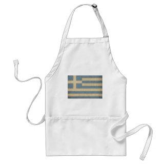 Vintage Greece Flag Adult Apron