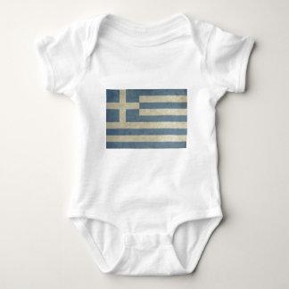 Vintage Greece Flag Baby Bodysuit