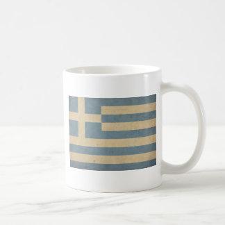 Vintage Greece Flag Basic White Mug