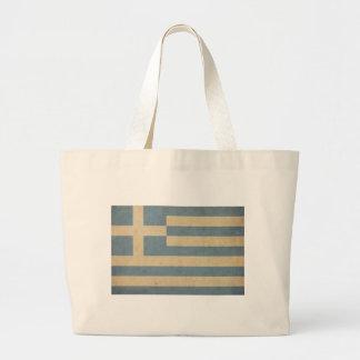 Vintage Greece Flag Jumbo Tote Bag