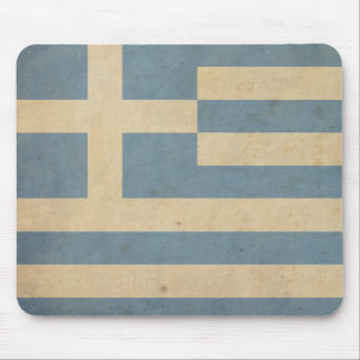 Vintage Greece Flag Mouse Pad