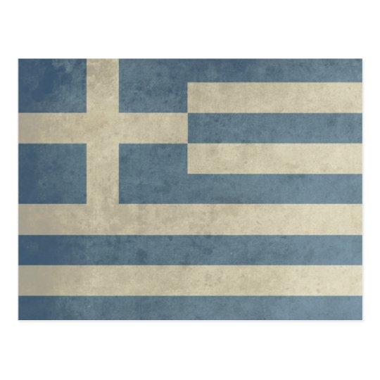 Vintage Greece Flag Postcard