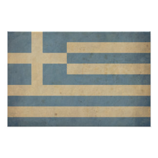 Vintage Greece Flag Poster