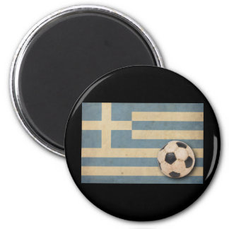 Vintage Greece Football 6 Cm Round Magnet