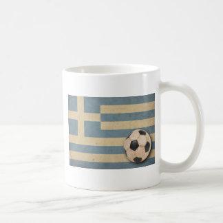 Vintage Greece Football Classic White Coffee Mug