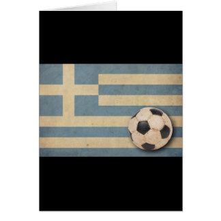 Vintage Greece Football Greeting Card