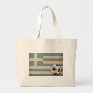 Vintage Greece Football Jumbo Tote Bag