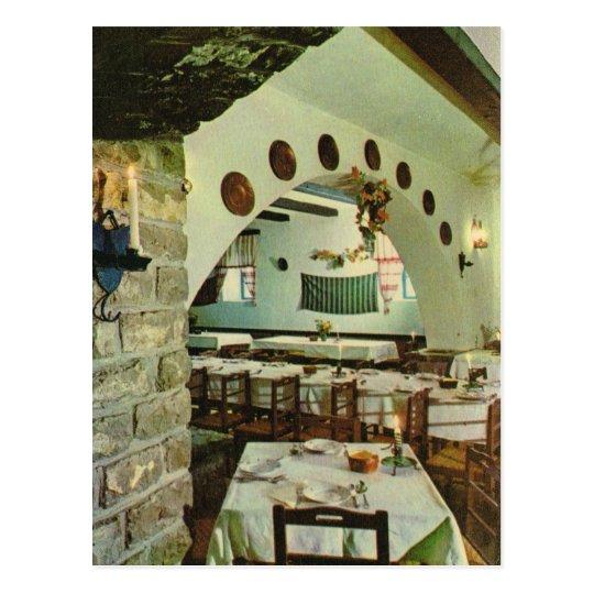 Vintage Greece, Inside a Greek Taverna Postcard