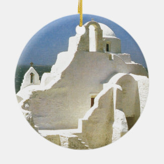 Vintage Greece, Myconos, Greek Orthodox Church Christmas Ornament