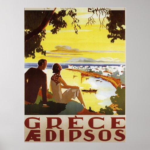 Vintage Greece Poster Print Posters