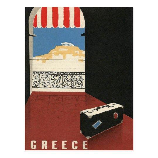 Vintage Greece Travel Athens Parthenon Temple Postcard