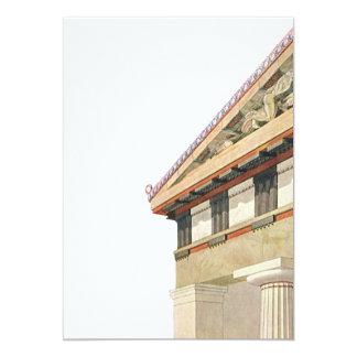 Vintage Greek Architecture, Temple of Athena 13 Cm X 18 Cm Invitation Card