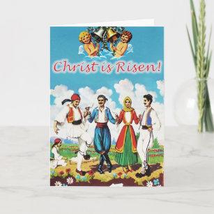 """Vintage Greek Easter Card """"Glendi"""""""