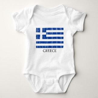Vintage Greek Flag Baby Bodysuit