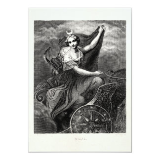 Vintage Greek Goddess Diana Artemis Roman Ancient 13 Cm X 18 Cm Invitation Card