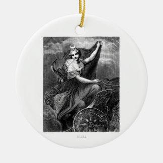 Vintage Greek Goddess Diana Artemis Roman Ancient Christmas Ornament