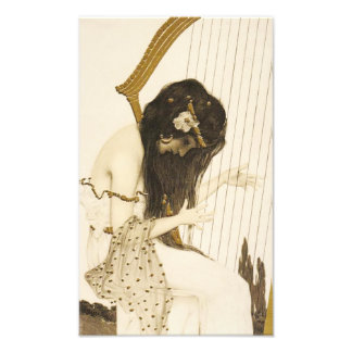 Vintage Greek Harpist Photo Print