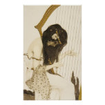 Vintage Greek Harpist Poster
