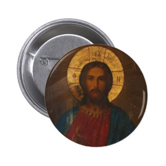 VINTAGE GREEK ORTHODOX ICON BUTTON