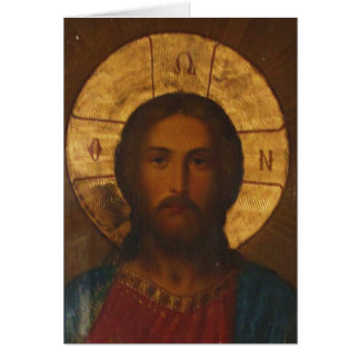 VINTAGE GREEK ORTHODOX ICON CARD