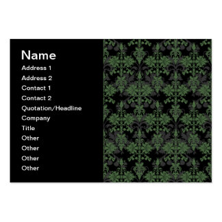 Vintage Green and Black Damask Pack Of Chubby Business Cards