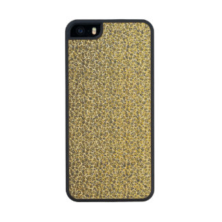 Vintage Green and Yellow Leaf Flower Endpaper Wood iPhone SE/5/5s Case