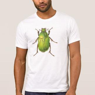 Vintage Green Beetle Illustration T-Shirt