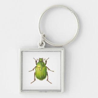 Vintage Green Beetle Keychains